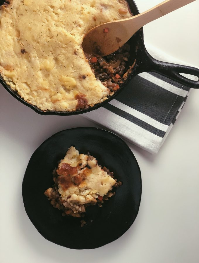 Vegan + Gluten Free Shepherd's Pie