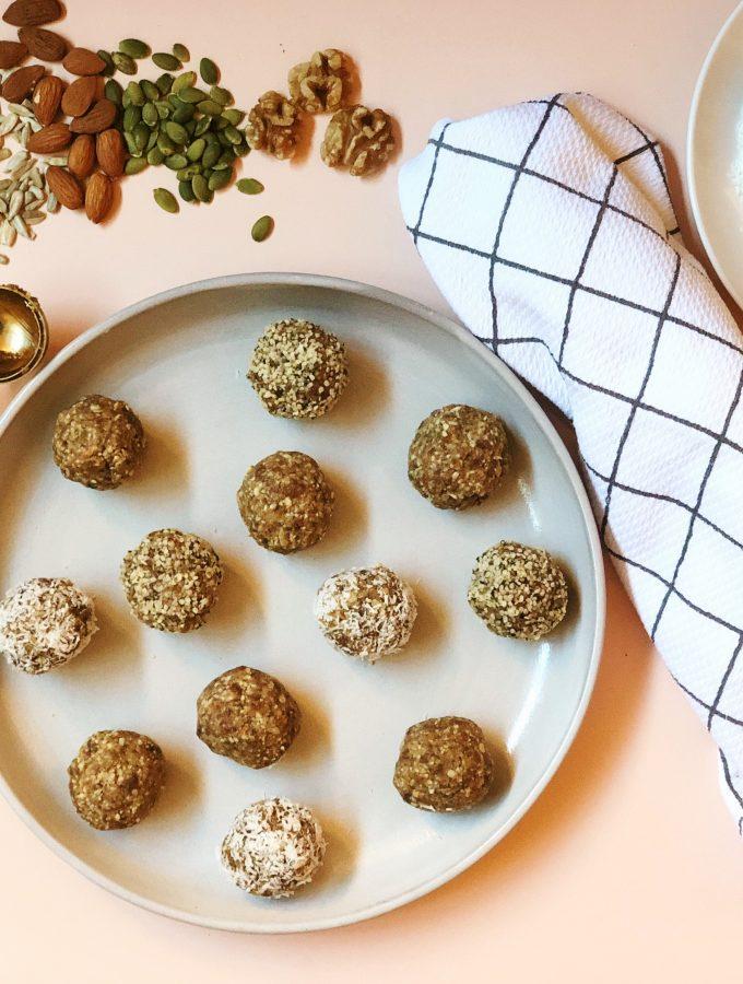 Date + Nut Energy Balls (Vegan + Gluten-Free + Paleo)