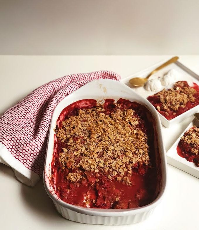 Strawberry Crisp (Gluten-Free + Vegan)